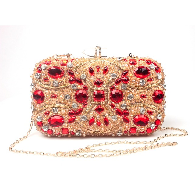 Women Evening Bags Palace Wind Beaded Wedding Handbags Clutch Purse Bag For Day Clutches