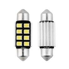 1x Cool White Canbus Error Free 39mm 8 Led Festoon DE3425 12v Car LED Number Plate Lights Bulbs For BMW E46 E39 E60 E90 E70 x5