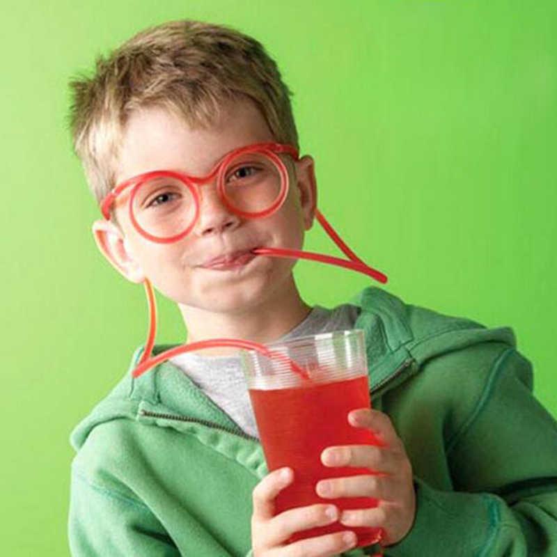 ספקי צד משקפיים קשיות יצירתי קש שקוף מצחיק אופנתי פלסטיק חוף מסיבת חידוש מתנה לילדים Dropshipping