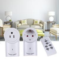 3 יחידות השקע חשמל קיר אלחוטי חכם מכשיר הבית החכם עם שלט רחוק תקע מתג אור האיחוד האירופי/תקע סטנדרטי בארה