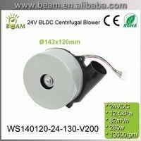 280 w 24 v 저소음 고압 속도 브러시리스 dc 원심 송풍기 스크러버 펌프 모터 팬용 알루미늄 모터