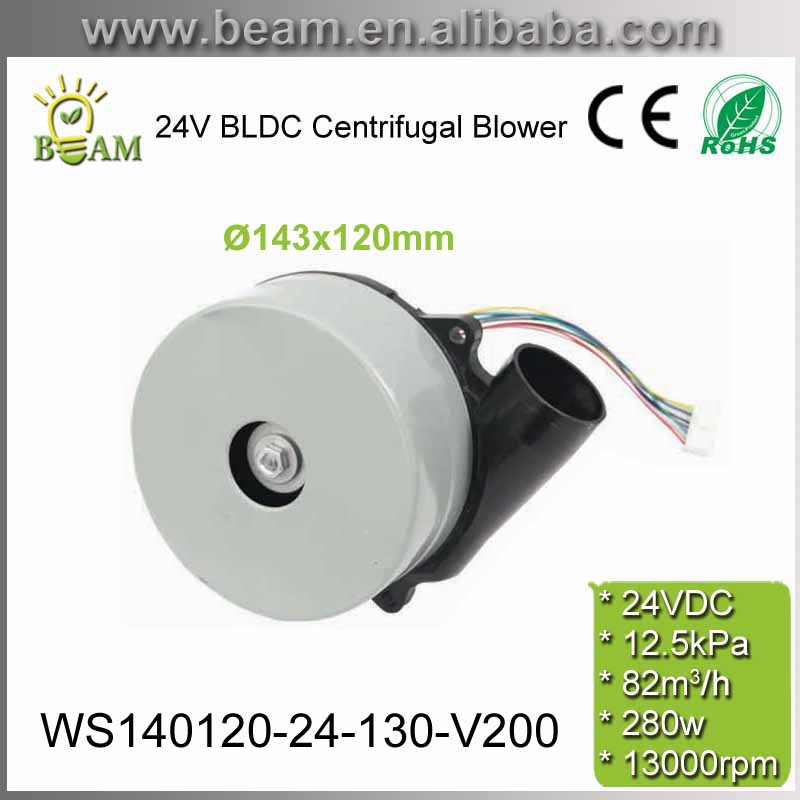 Moteur en aluminium sans brosse de ventilateur centrifuge de cc de vitesse à haute pression à faible bruit de 280 W 24 V pour le ventilateur de moteur de pompe d'épurateur