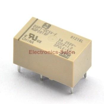 ( 50 pcs/lot )  DSP1-DC5V-F Small Polarized Power Relay, 1 Form A 1 Form B.