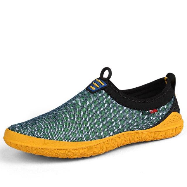 8c13abd28d17 Męskie buty z palcami duży rozmiar 47 marki sportowe Sneaekrs letnie  oddychające buty sportowe dla mężczyzn