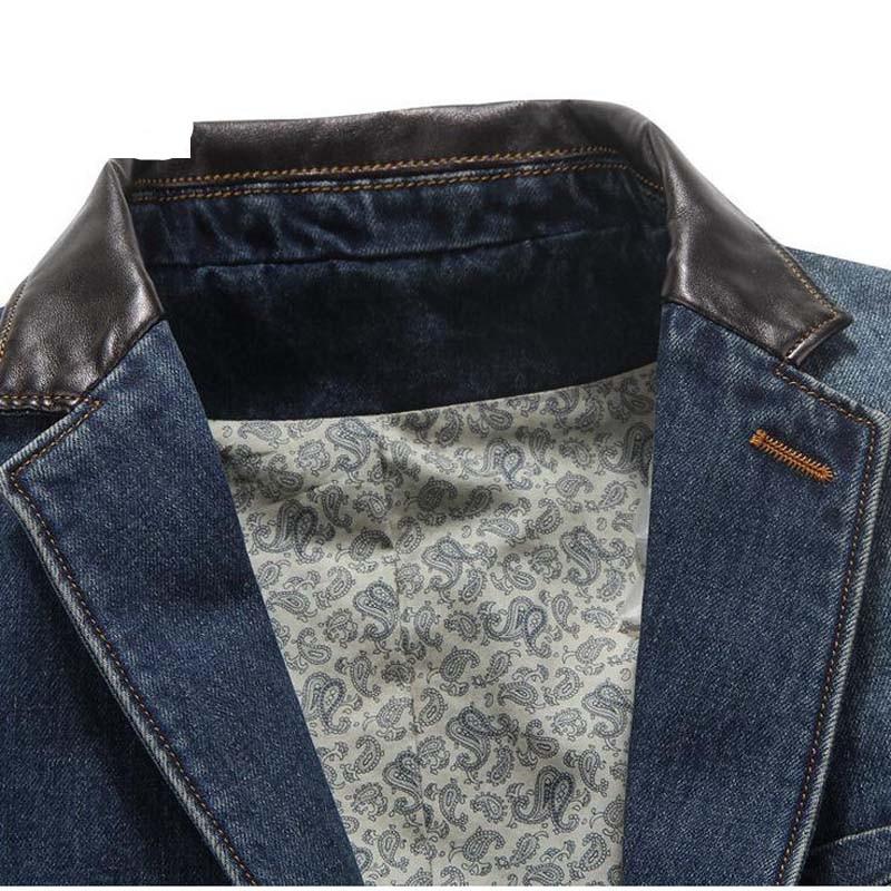 NEW Leisure cowboy Coats Mens Loose Blazer Suit Autumn Denim Jackets Fashion Chaqueta Coat Jacket Tops Outer Male Blazers