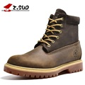 Z. Suo Men Boots Leather Fashion Men's Boots The Quality of The Drum Level In Stitching Boots Man Botas Hombre Dr Martins