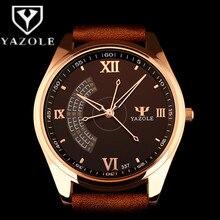 YAZOLE Montre Hommes Top Marque De Luxe Montres Unique Mode Hommes de Montre Étanche montre-Bracelet En Cuir Horloge relogio reloj hombre