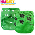 Miababy Minky OS AI2 cloth diaper, Double Leaking Guards, with embroidery on the back, one diaper for whole night!