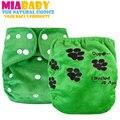 Miababy os ai2 pañales de tela minky, Double Fugas Guardias, con bordado en la parte posterior, un pañal para toda la noche!