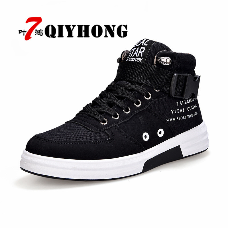 QIYHONG 2018 Men Casual Shoes Spring Autumn New Lace-Up Style Fashion Trend Flat Breathable Rubber Canvas Youth Shoe Man 39-44 hot sale casual shoes men spring autumn waterproof solid lace up man fashion flat with pu leather outdoors shoe