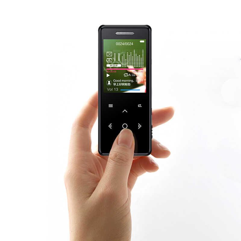 Mp3-плеер громкоговоритель Bluetooth экран hi fi fm радио мини USB MP3 Спорт MP 3 HiFi музыкальный плеер портативный металлический walkman 8 Гб