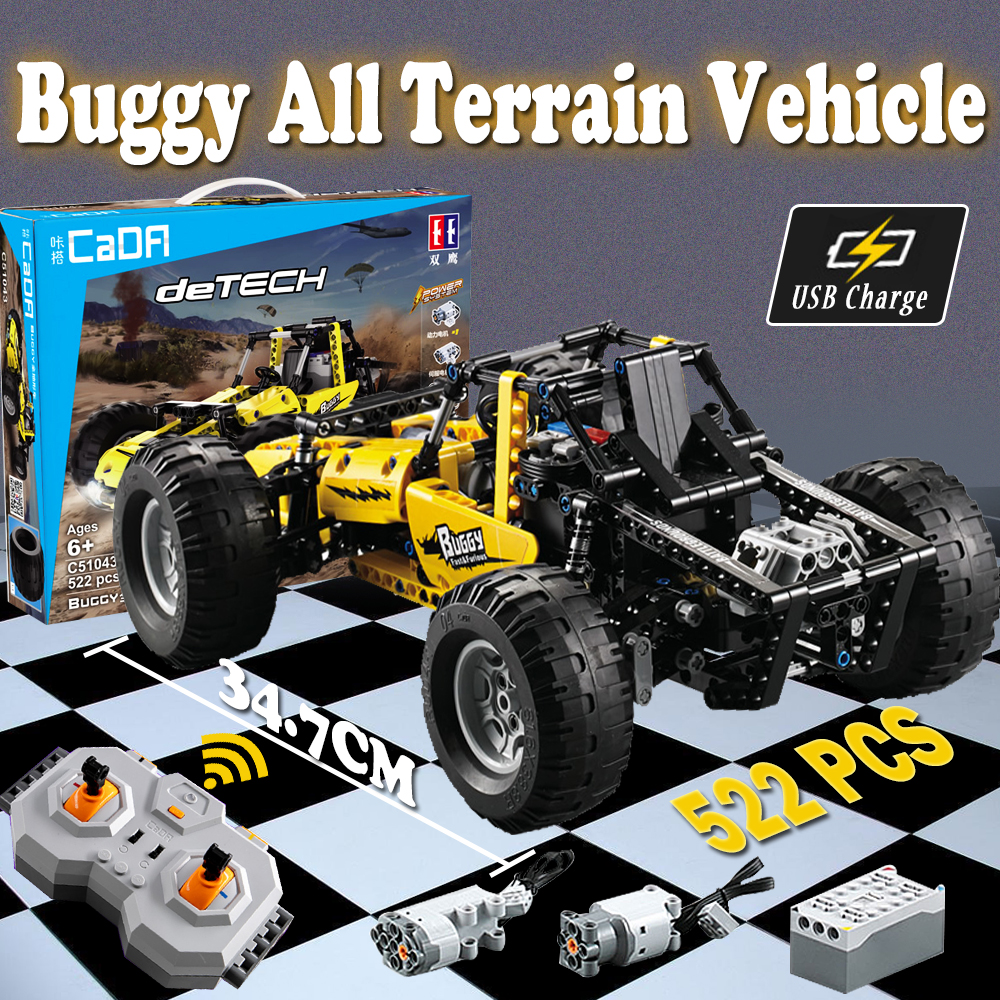 522 pcs Compatible with <font><b>Lego</b></font> building block kits Technic RC Buggy car sets 2.4G Model building bricks toys for children image