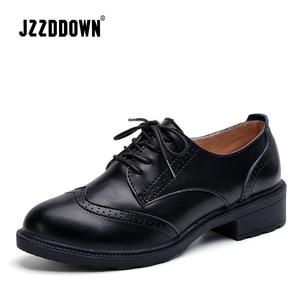 Image 3 - JZZDDOWN femmes chaussures en cuir véritable richelieu automne dames mocassins femmes femmes en cuir chaussures de luxe oxford chaussures pour les femmes