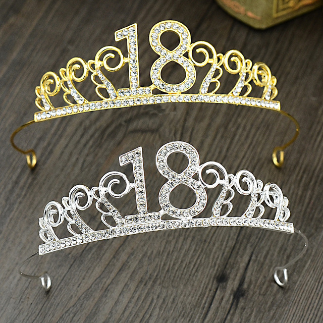 Princess Crystal Tiaras And Crowns 18 Years Old Birthday Cake Decoration Crown Prom Wedding Party