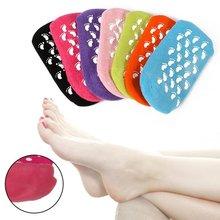 Whitening Exfoliating Foot Mask Gloves Spa Gel Socks Moisturizing Hand Mask Feet Care Ageless Beauty Silicone Socks