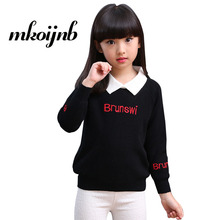 Girls Letter Sweaters For Girls Outerwear Cute Children Sweaters Winter Knitwear Thick Kids Costumes Tops 4 6 7 8 10 12 Years 2018 spring autumn girls sweaters fashion cotton preppy kids knitwear sweater pullovers children clothes 4 6 8 10 12 13 years