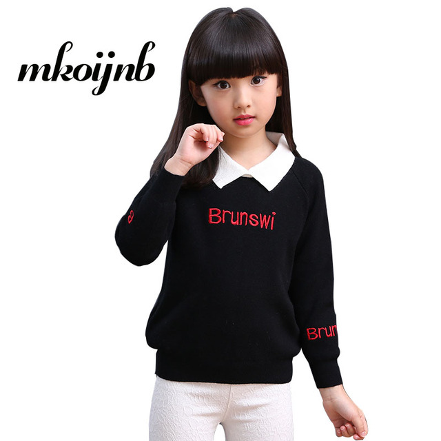 7762d97d7 Girls Letter Sweaters For Girls Outerwear Cute Children Sweaters ...