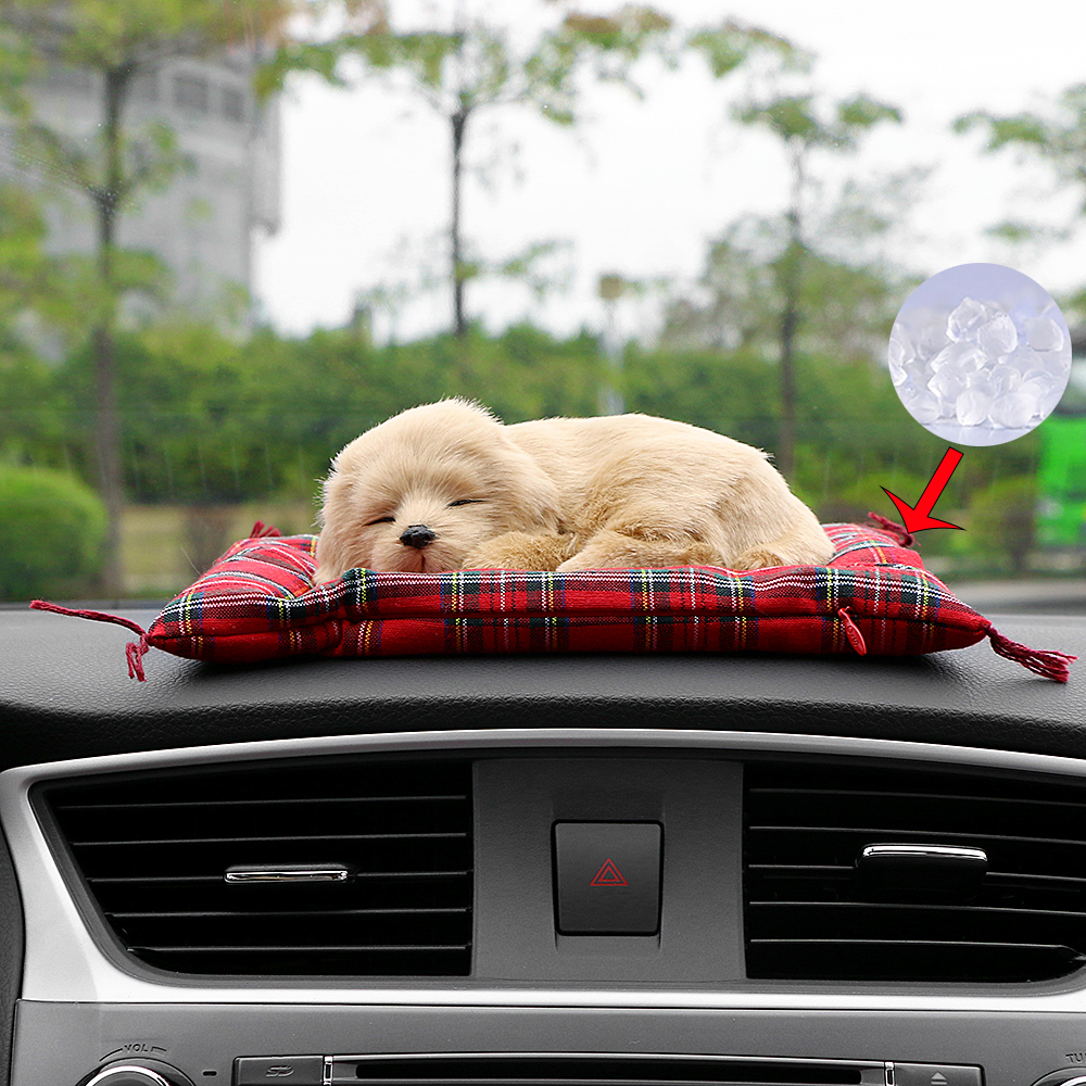 Car Ornaments Simulation Sleeping Dog Automotive Solid Perfume Dashboard Decoration Toys Air Fresheners Home Decor Accessories