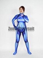 רושם 3D Samus אפס תלבושות הלייקרה Morph ילדה גברת מופע Zentaibodysuit אשת גיבור תלבושות מערער בגד גוף