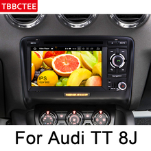 For Audi TT 8J 2006~2014 MMI Android Car DVD Radio Player GPS Navigation Multimedia System Bluetooth Radio Amplifier Navi MAP цены онлайн