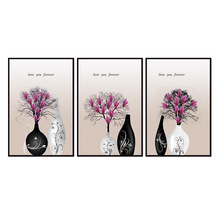 Factory wholesale (No Framed) Vase flower series Canvas Print On Printing Wall Pictures 12YM-A-679