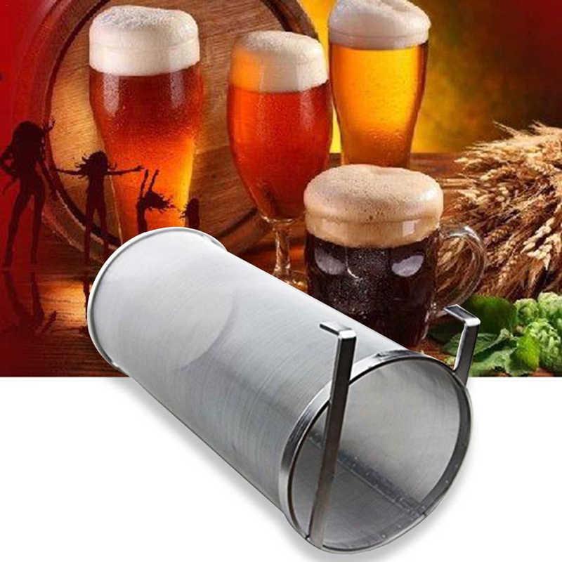 300 ميكرون الفولاذ المقاوم للصدأ محلية الصنع الشراب البيرة هوب شبكة مصفاة الفلتر مع هوك البيرة تخمير هوب العنكبوت شبكة مصفاة الفلتر