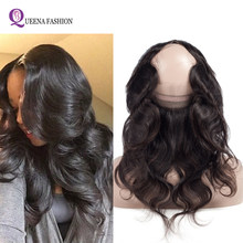360 Lace Frontal Closure with Bundle Peruvian Body Wave Human Hair 360 Frontal with Baby Hair 4Pcs/lot 360 Closure With Bundles(China)