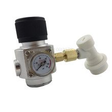 CO2 Mini Gas Regulator with Corny Keg Ball Lock Disconnect for Beer Tap,Homebrew GAS