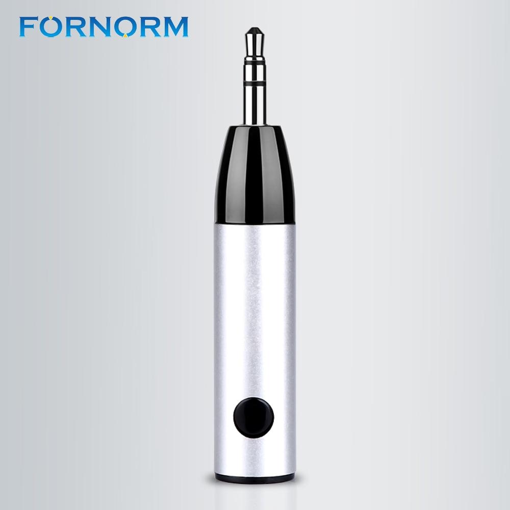 Fornorm Drahtlose Bluetooth Car Kit 3,5mm Klinke Bluetooth Audio Receiver Adapter Aux Mit Mic Für Lautsprecher Kopfhörer Pc Computer Funkadapter Tragbares Audio & Video