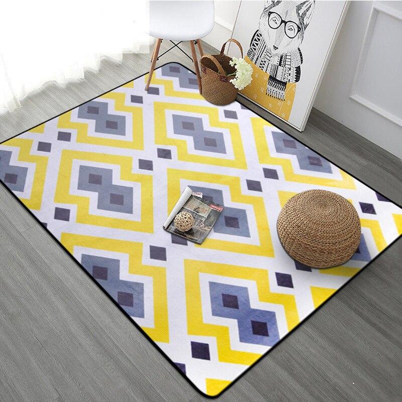 9 couleurs tapis de Style moderne salon canapé grande taille tapis de sol chambre chevet tapis Pad nordique décoration maison paillasson tapis
