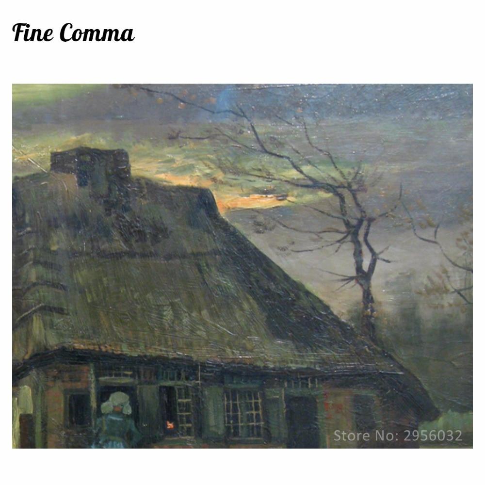 Vikendica De Hut 1885. Vincent van Gogh Ručno oslikana slika uljem - Kućni dekor - Foto 4