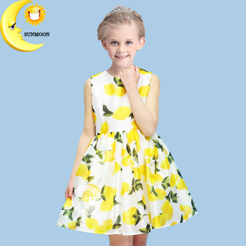 Подробнее о Baby girl dress lemon pattern princess dresses summer cotton kids girls clothes fashion children clothing bow vestido tutu dress baby girl dress 2016 brand girls summer dress children clothing lemon print kids dresses for girls clothes robe princesse fille