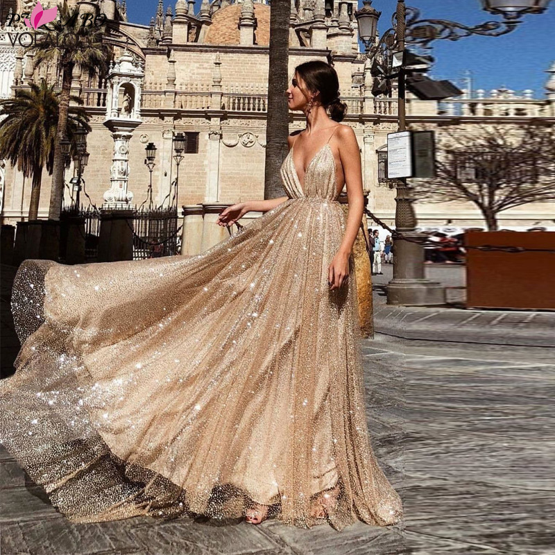 Night Club Elegant 2019 Vestidos De Festa Women Sexy Dresses Gold Silver Shiny Sequin Long Evening Maxi Lace Party Dress