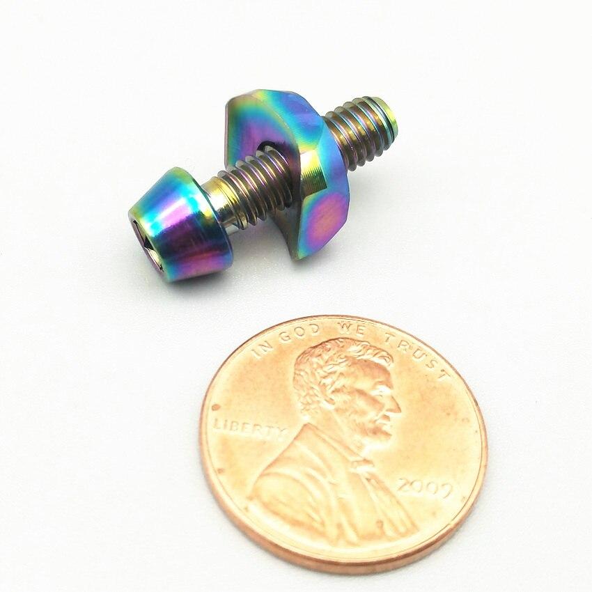 Boulons en titane M5 x16mm cadran avant joint fixe pour 5800/6800 tête conique à six pans creux Ti vis de fixation Ti