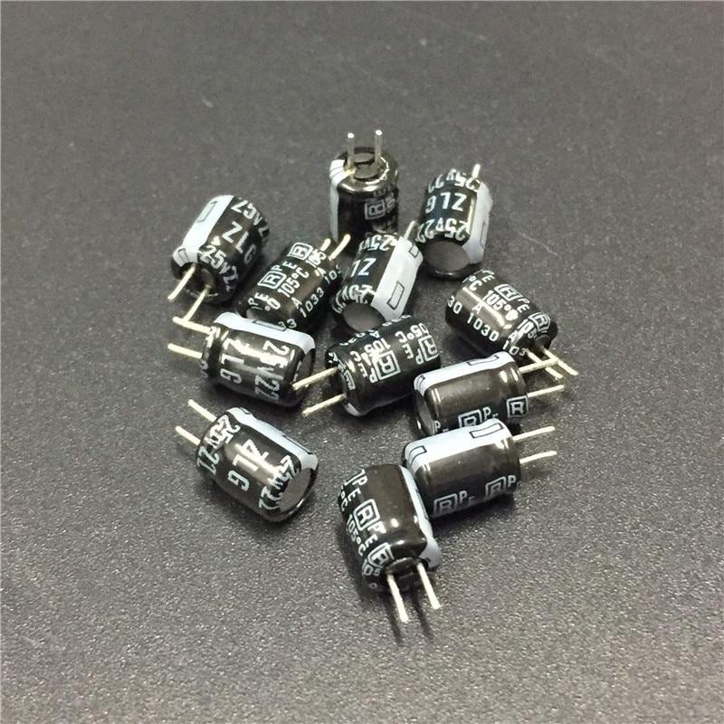 100pcs 25V 6.8uF 25V Rubycon MH5 4x5mm Aluminum Electrolytic Capacitor