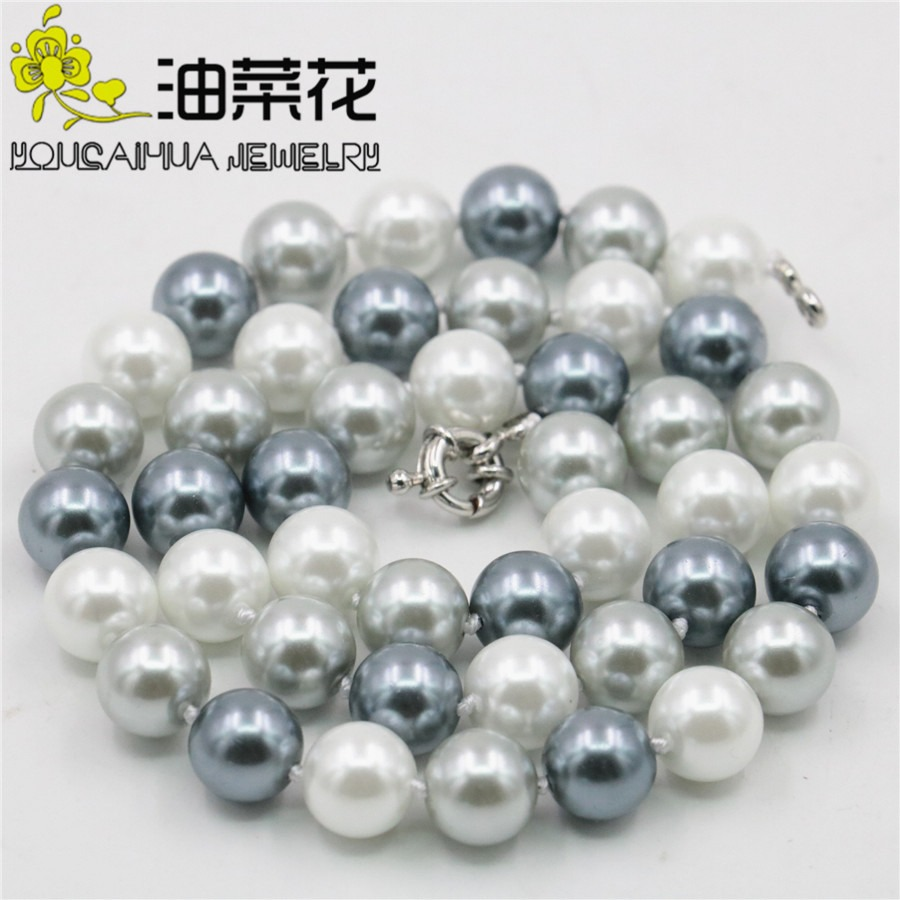85 pcs x Glass Pearl 10mm Round Beads #80E Silver Grey