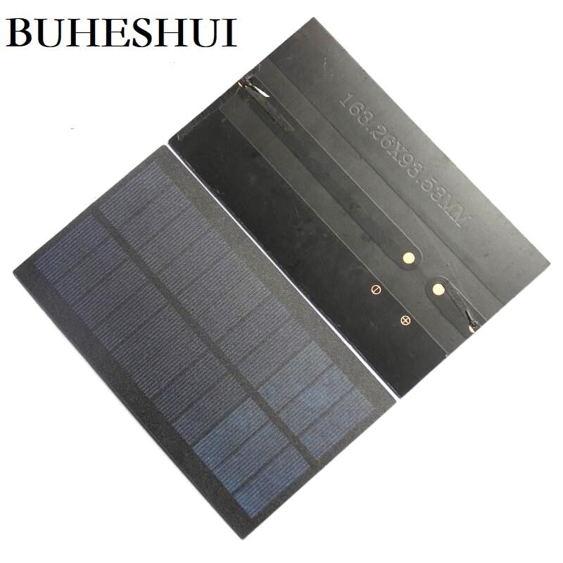 Módulo da Célula Sistema de Carregador de Painel Solar para 3.7 Buheshui Solar Policristalino Pet Estudo Faça Você Mesmo Bateria 163 * 93mm 100 Pcs 345ma 5.5 v