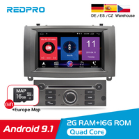 Pure Android 9.1 Car DVD Player For Peugeot 407 2004 2010 Radio Stereo GPS Navigation WiFi Bluetooth Car Multimedia Video Audio