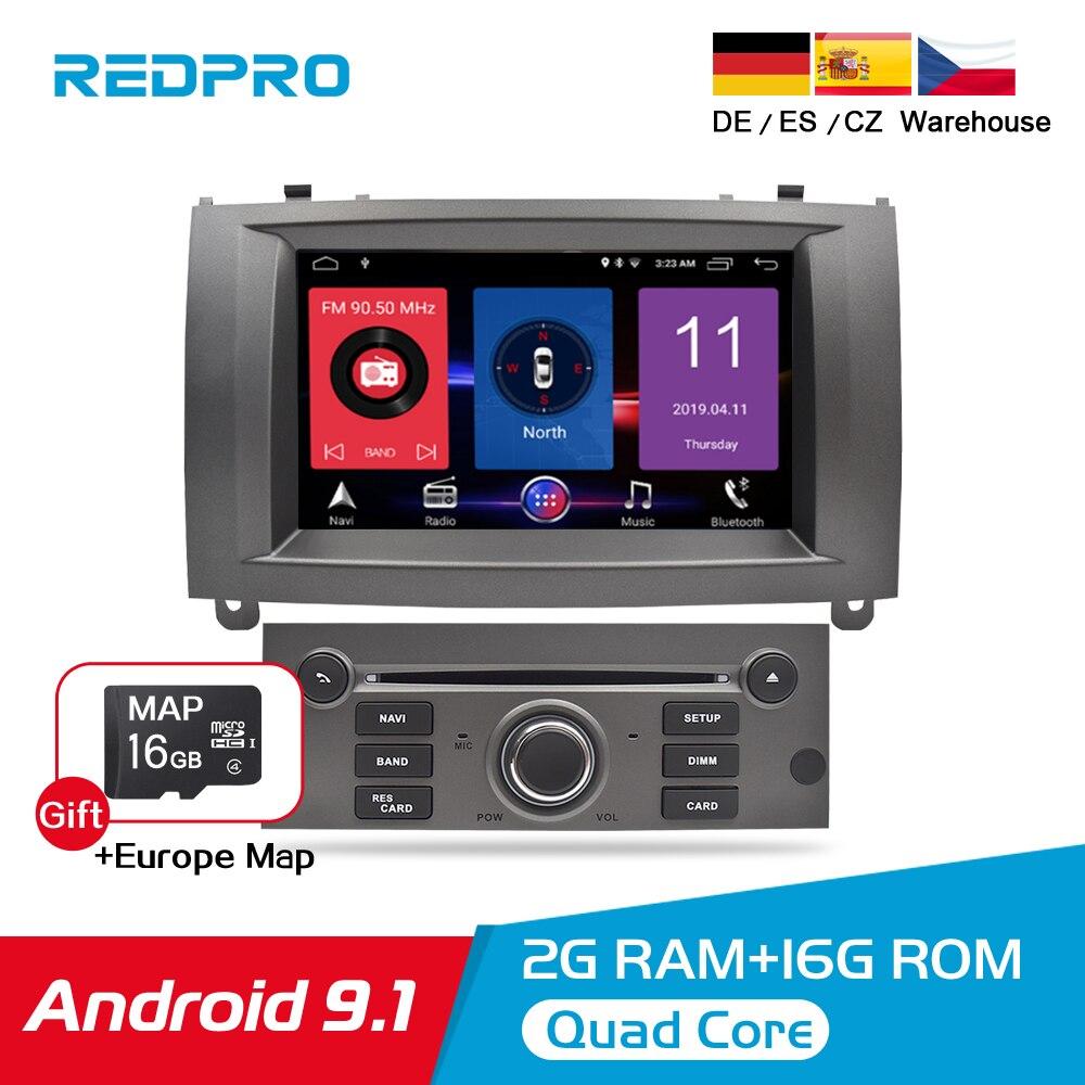 Puro Android 9.1 Jogador Do Carro DVD Para Peugeot 407 2004-2010 Radio Stereo Navegação GPS Bluetooth Wi-fi Multimídia Carro de Áudio E vídeo