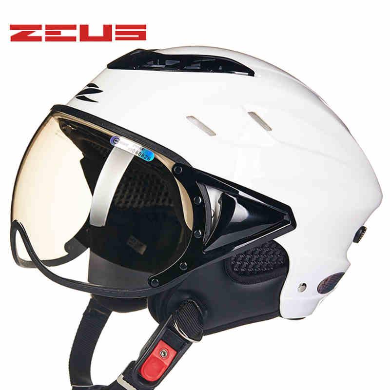 ZEUS Motorcycle Helmet Half Moto 125B Cycling Protective Capacet Sctoor Electric Bike Street Sports Casco motorcycle helmet