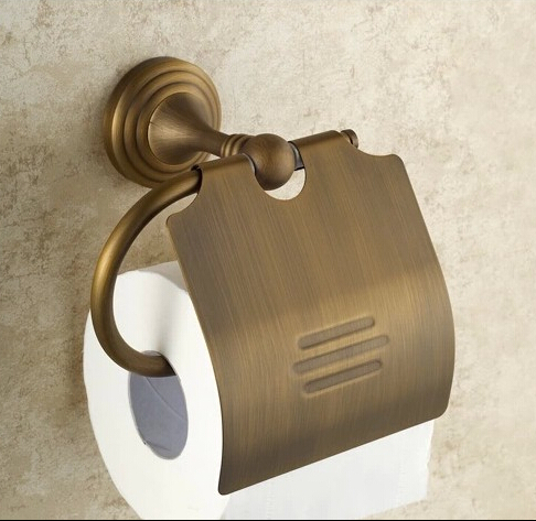 ФОТО Bathroom towel rack Antique toilet paper box Bronze colored toilet paper box European toilet paper box Bathroom towel rack
