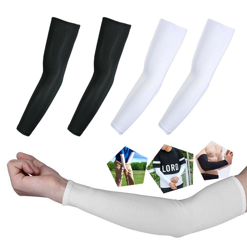 Newly 5 Pairs Cooling Arm Sleeves Sun UV Protection Outdoor Sport Sunscreen Half Finger Cover VK-ING