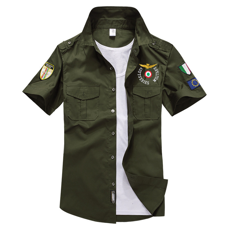 Special Forces Air Force One Tactical Military Style Shirts Men Army Combat Camo Clothes Summer Cardigan Cargo Shirts Casual