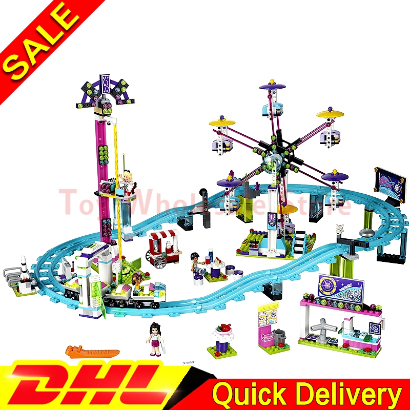LEPIN 01008 1124Pcs Amusement Park Coaster Building Kits Girl Blocks Bricks lepin Toys Friends Clone 4113 2016 new lepin 01008 1124pcs amusement park coaster building kits girl friend blocks bricks toys compatible gift 4113