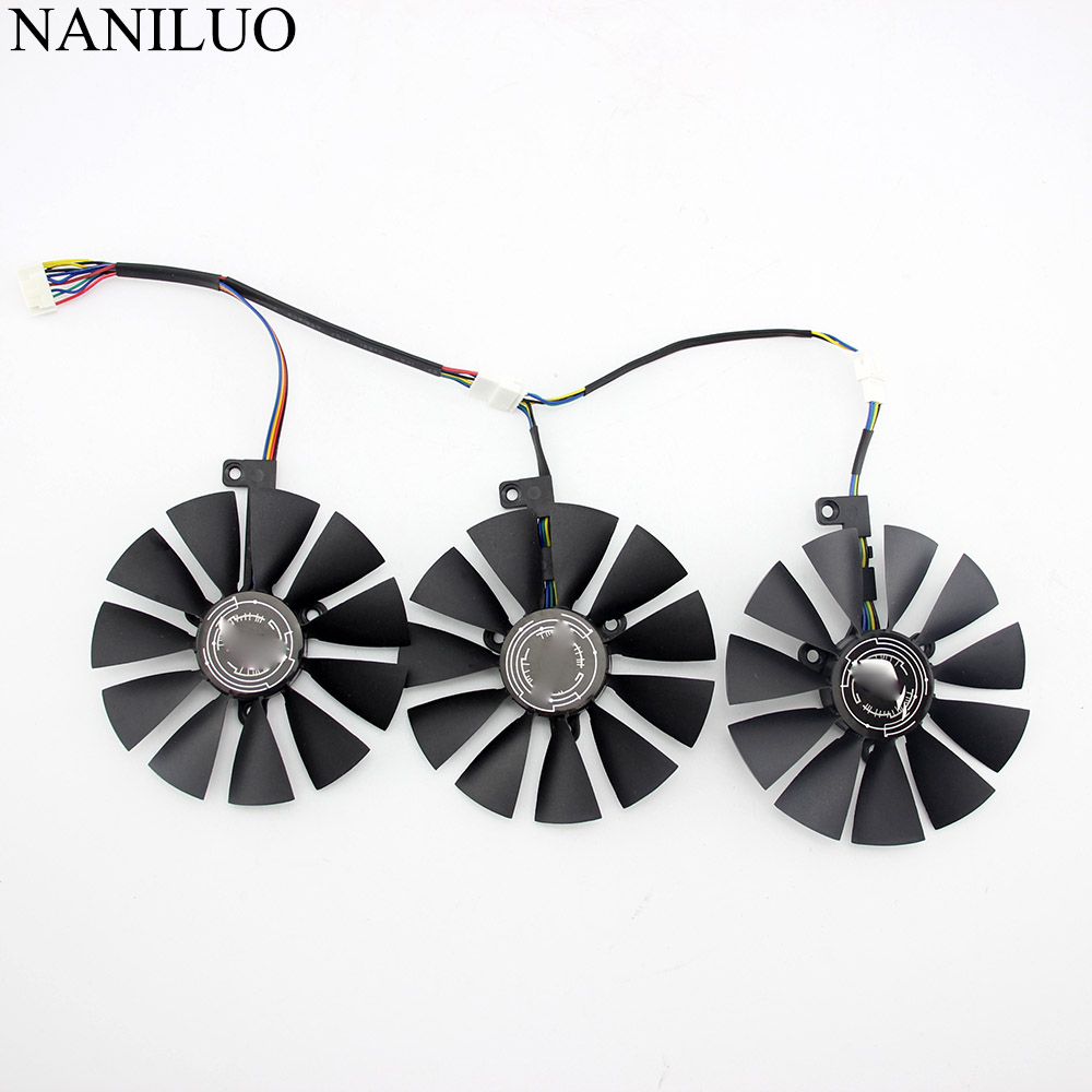 Original For ASUS ROG-STRIX-RTX 2060 2070-O8G-GAMING RTX2060 RTX 2070 Graphics Video Card Cooling Fan T129215SH T129215SL