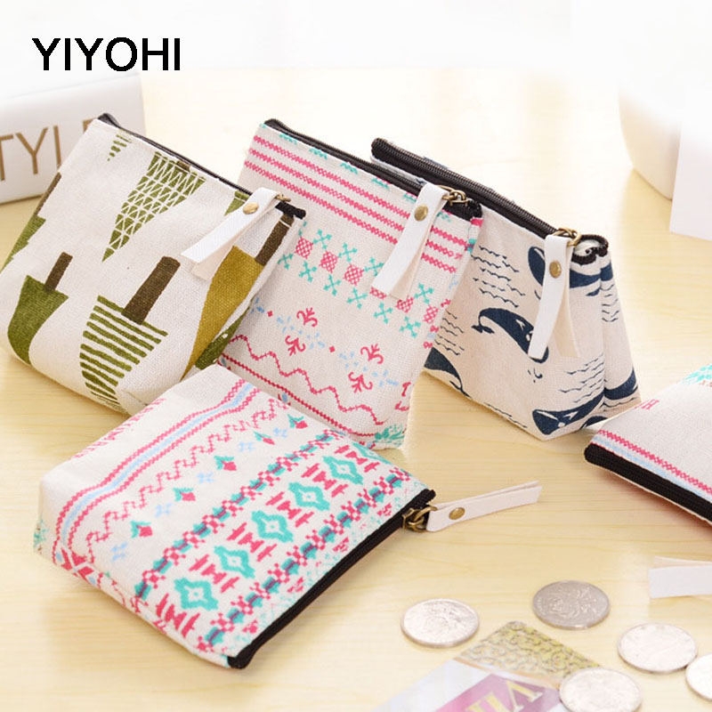 YIYOHI Korean Girls Cartoon Mini Coin Purse Children Kawaii Zipper Coin Wallet Canvas Coin Pouch Women Snacks Small Money Bag