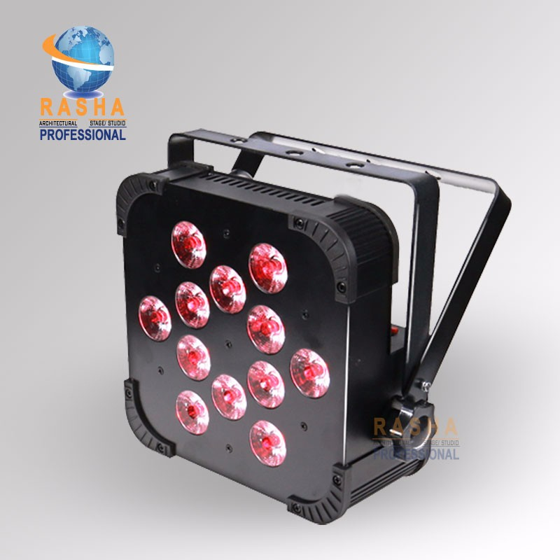 24X Rasha Quad V12-12pcs*10W 4in1 RGBW/RGBA LED Slim Par Profile,LED Flat Par Can,Disco Stage Event Light rasha quad 7pcs 10w 4in1 rgbw rgba non wireless led flat par profile led flat slim par can disco dmx512 stage light