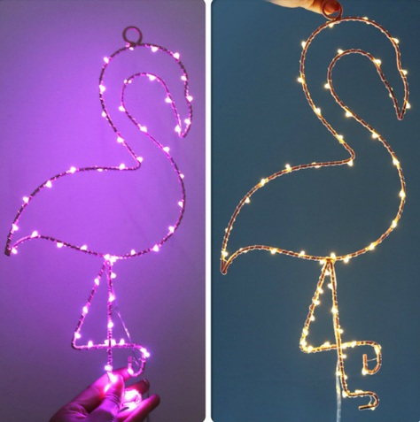 New 2018 Lovely LED Wall Lamp Moon Star Cloud Flamingo Night Lights portable lantern Home Decor Marquee Sign Party gift