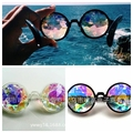 2017 New Sunglasses  Retro Round Kaleidoscope Sunglasses Men Women Designer  Kaleidoscope Men Glasses Cosplay goggles