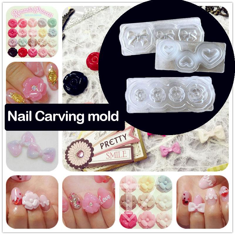 3d Acrylic Nail Template Acrylic Nail Carving Mold Nail Art Template ...